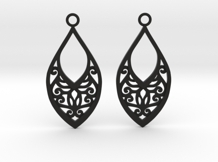 Edelmar earrings 3d printed