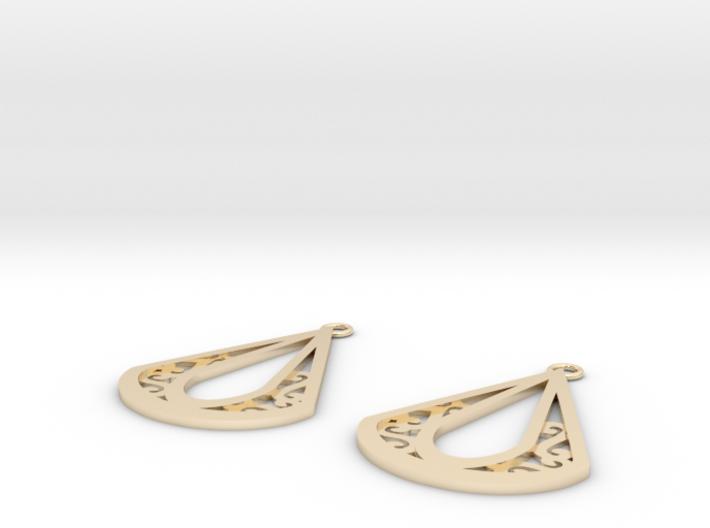 Calyson earrings 3d printed
