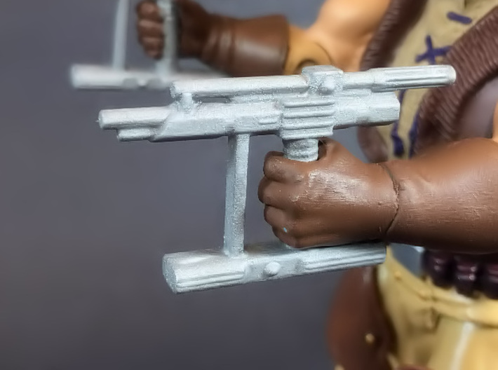 BraveStarr style hand laser for He-Man MOTUC 3d printed Painted - Works with Masters of the Universe Classics