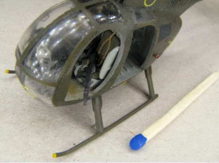 1:72 M60 Machine Gun (12x) 3d printed Used with a model of an OH-6A