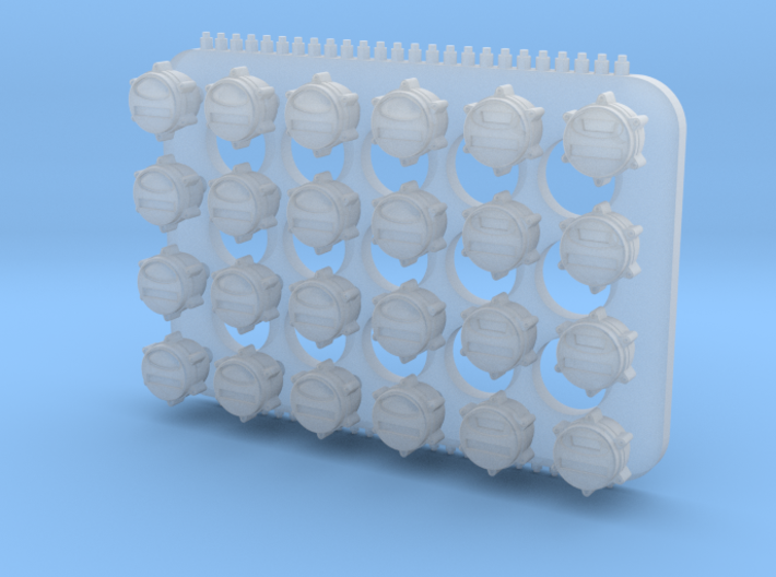 1:35 US Military blackout tailllights (24x) 3d printed