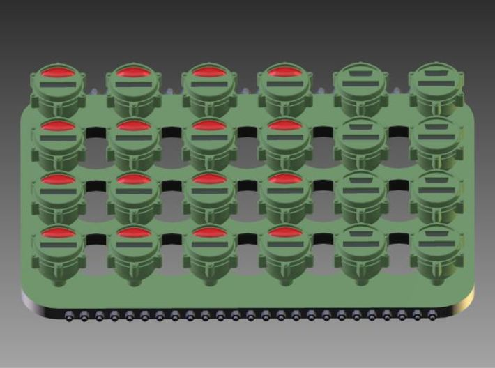 1:35 US Military blackout tailllights (24x) 3d printed To give you a better idea of the designed detail