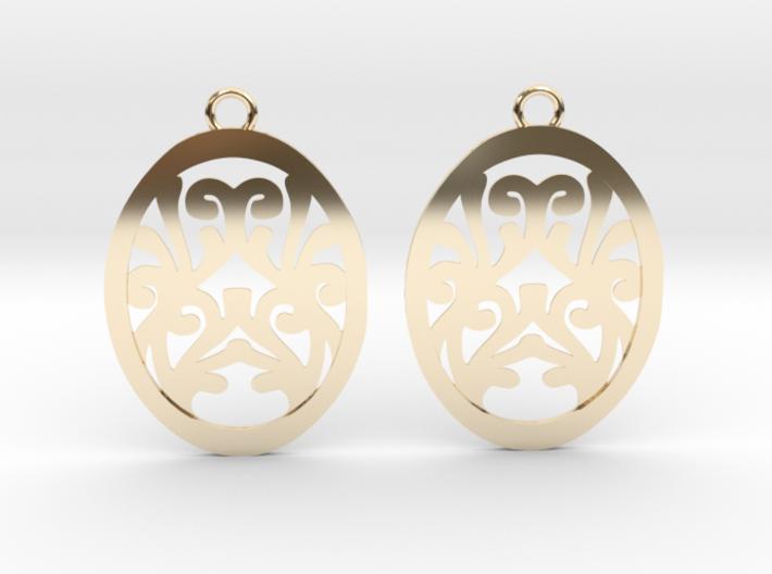 Olwen earrings 3d printed