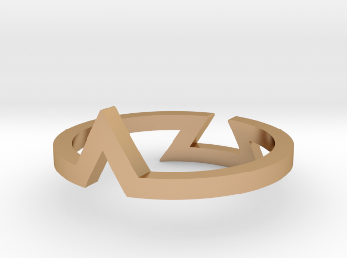 Triangle Illusion Ring 3d printed