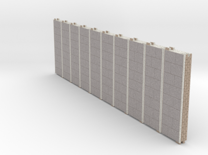 N gauge Platforms X10 textured and seamless joints 3d printed