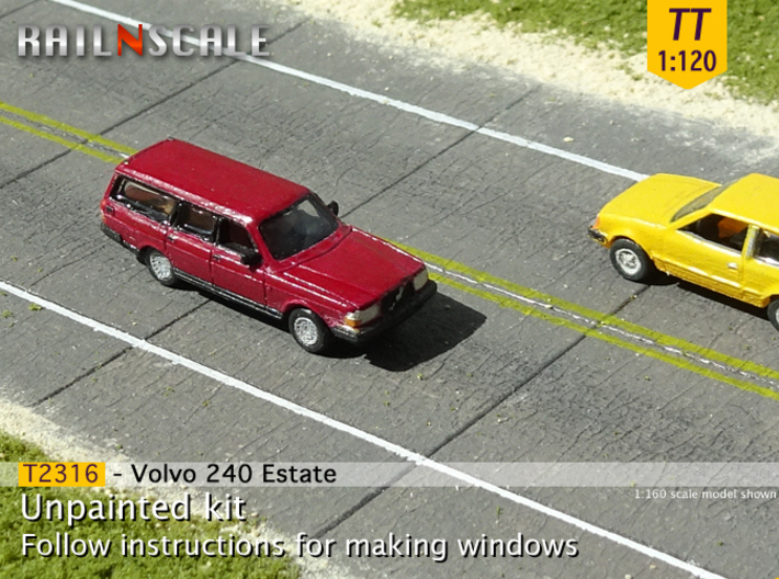 Volvo 240 Estate (TT 1:120) 3d printed