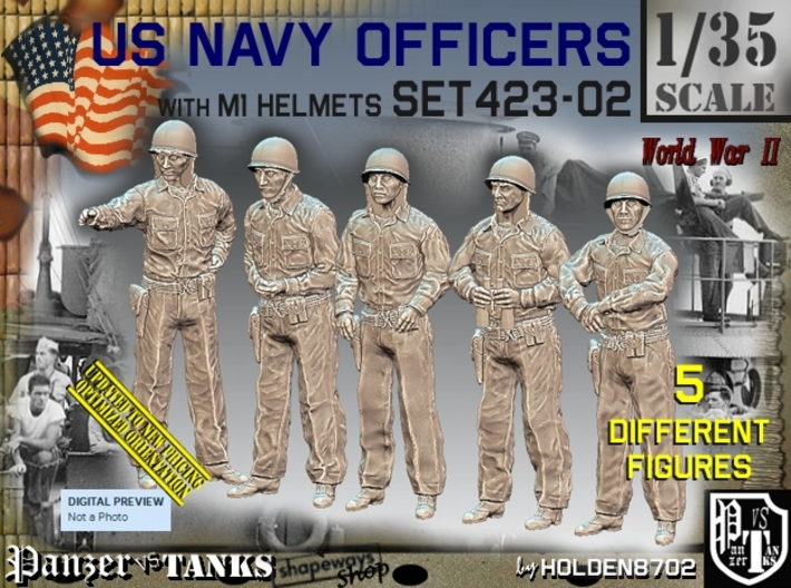 1/35 USN Officers Set423-02 3d printed
