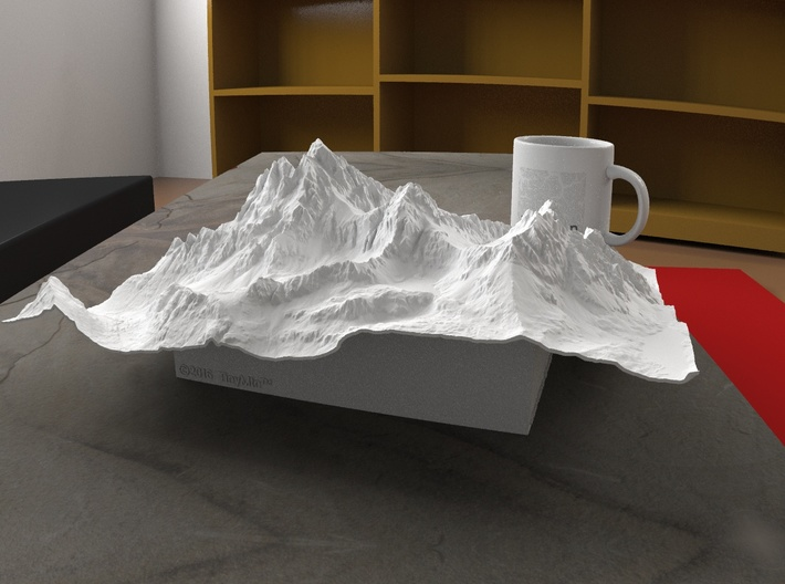 12'' Grand Tetons, Wyoming, USA 3d printed