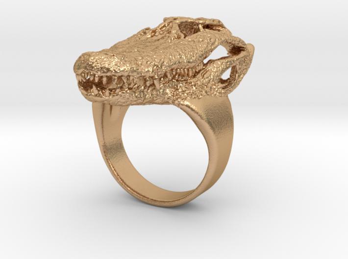 Alligator Skull Ring 3d printed