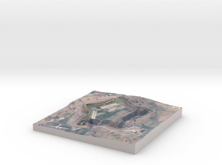 """Fort Crown Point, Spring - 6""""x6"""" 3d printed"""