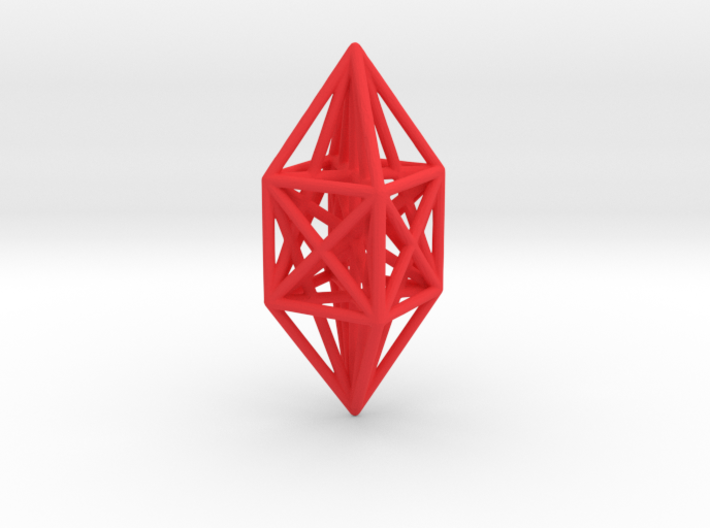 10 node complete graph ornament 3d printed