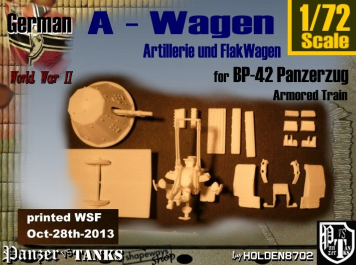 1-72 A-Wagen For BP-42 3d printed