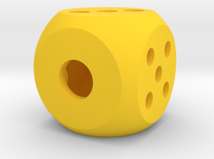 die hollow interior balanced rounded edges 3d printed