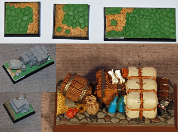 Saurian/Dragon Skin Modeling Tool 3d printed Cobblestone Bases crated by a customer