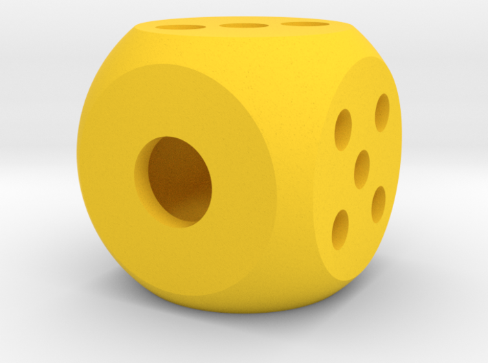 die segmented interior balanced rounded edges 3d printed