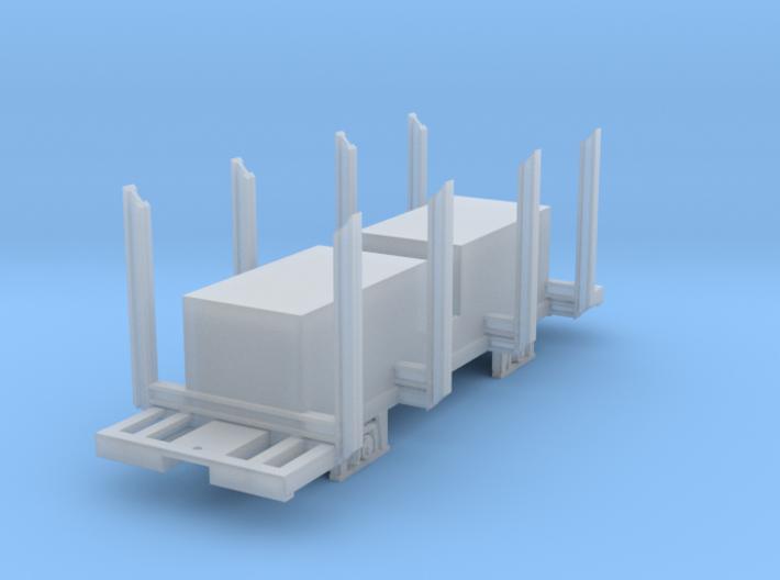 Swedish H0n3 timber wagon, litt Qp (B) 3d printed