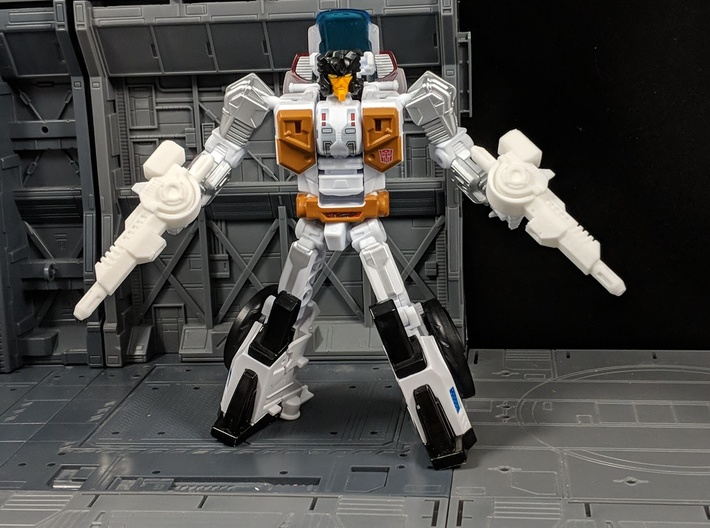 TF Combiner Wars Groove Motorcycle Cannon Set 3d printed Used in Robot Mode