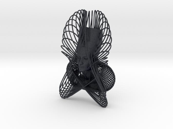 Enneper Curve Art + Nefertiti (001d) 3d printed