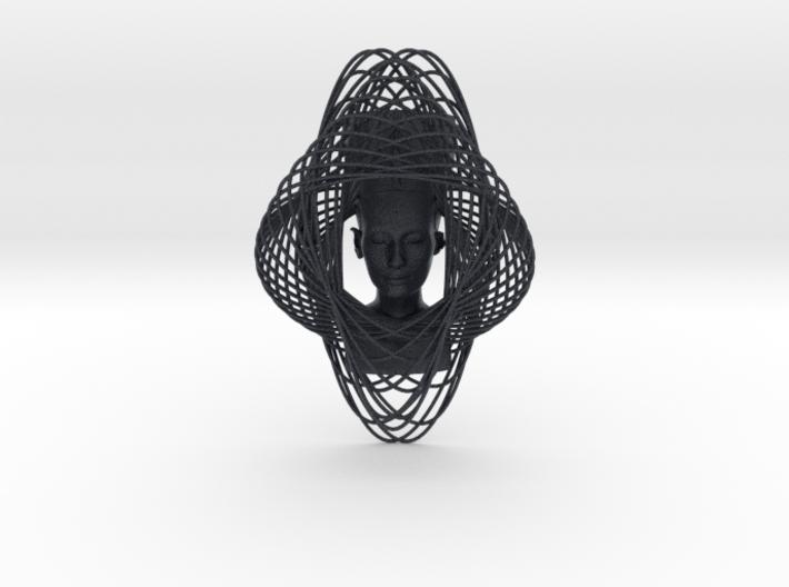 Enneper Curve Art + Nefertiti (002d) 3d printed