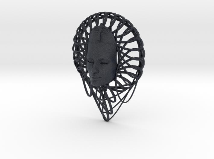 Flower Curve Art + Nefertiti (001b) 3d printed