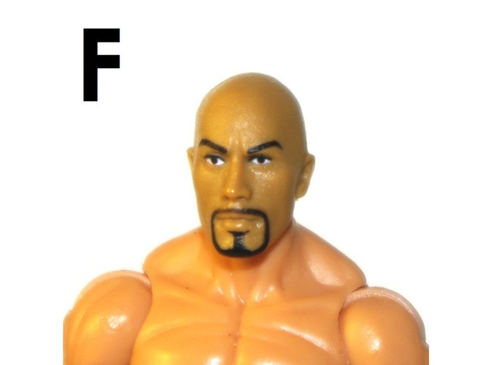 """1:18 Scale Action Figure MALE Neck Barbell Adapter 3d printed Peg """"F"""" Sample"""