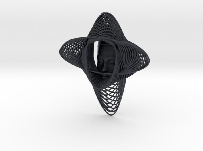 Wire Curve Art + Nefertiti (001d) 3d printed
