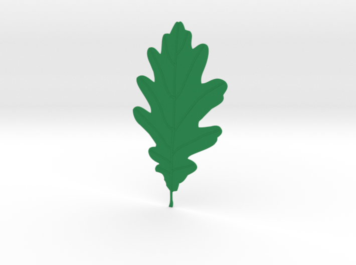 Oak tree leaf 3d printed