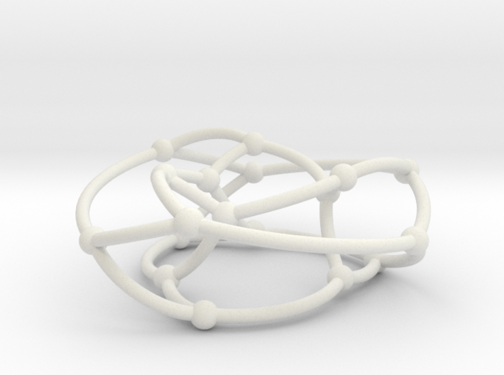 Pappus graph on torus 3d printed