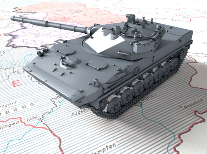 1/285 Russian 2S25 Sprut-SD Tank Destroyers x4 3d printed 1/285 Russian 2S25 Sprut-SD Tank Destroyers x4