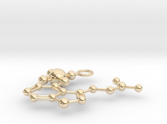 Psilocybin Molecule (large) 3d printed