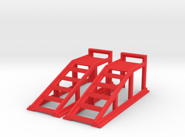 RC Garage 4WD Truck Car Ramps 1:24 Scale 3d printed