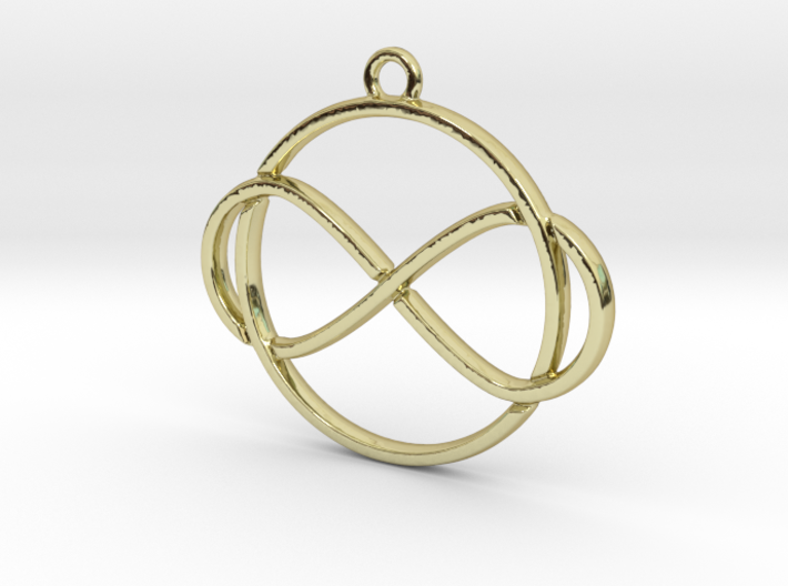 Infinite and circle intertwined 3d printed