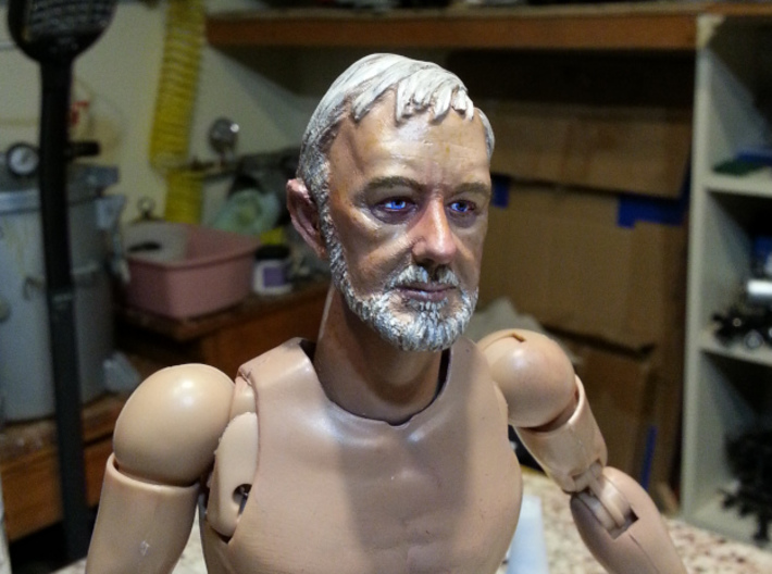 1-6 Alec Head for Action Figure 3d printed Painted and mounted on Generic Body