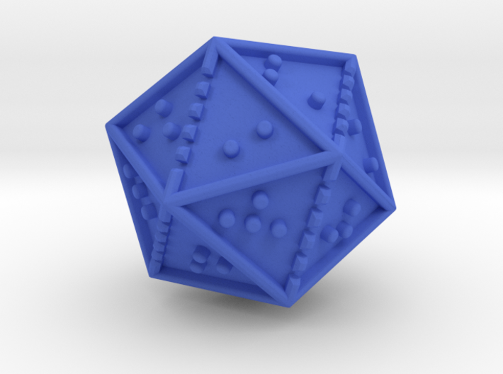 Braille Twenty-sided Die d20 3d printed