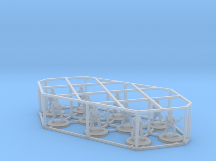 1:144 12mm WWII Wargame Allies & Axis game Russian 3d printed