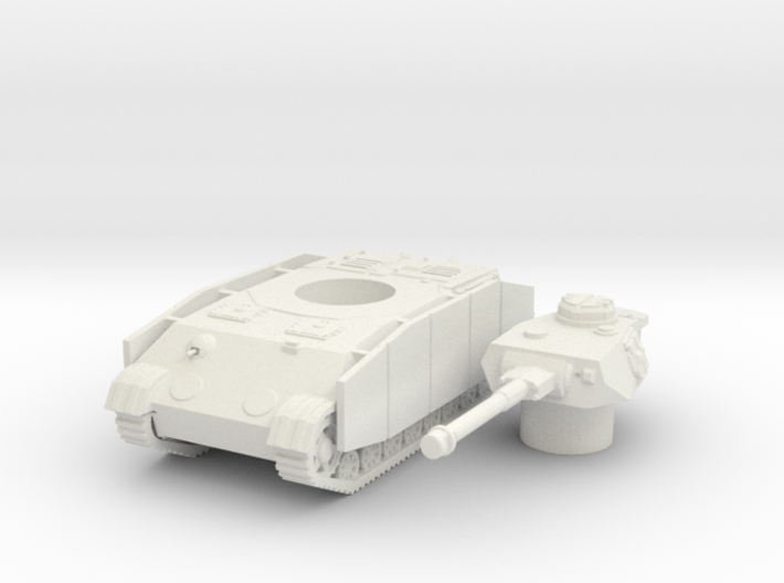 Panzer IV K (side skirts) scale 1/100 3d printed