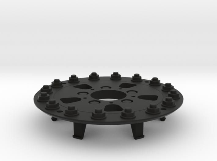 TRX-4 Hutchinson Wheel Cap 16 Nuts - One Piece 3d printed