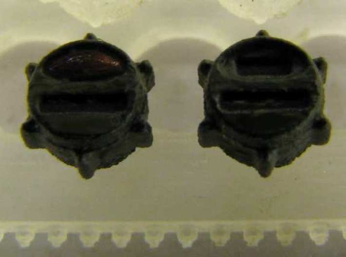 1:35 US Military blackout tailllights (24x) 3d printed Close up on a pair of painted lights