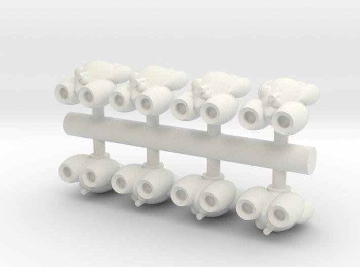 8 Rushi Bombers 3d printed