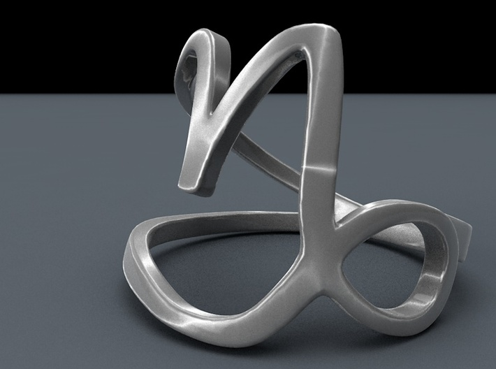 Capricorn Zodiac Ring 3d printed