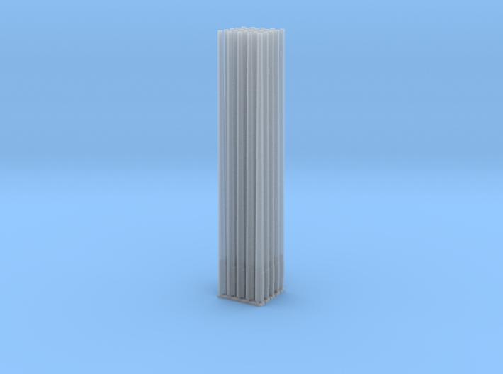 Betonmast 8m rund, hohl, DDR, 1:87, 25/50 Stück 3d printed Render Smoothest Fine Detail Plastic 25 Stück