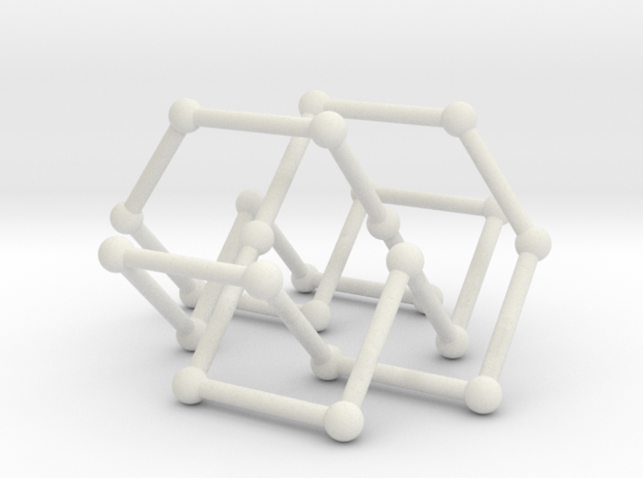Knot 8_19 in BCC lattice 3d printed