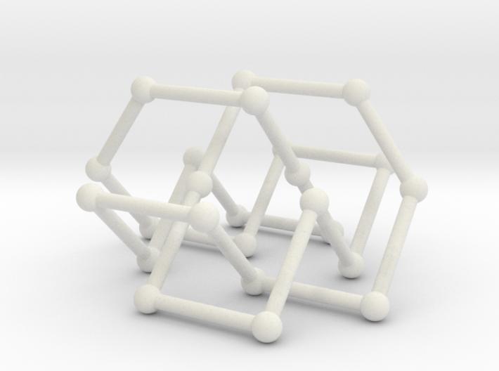 Knot 8_19 in BCC lattice 3d printed