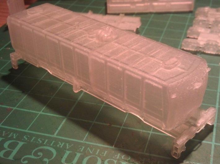 UP Water Tender N Scale 1:160 Joe Jordan 3d printed End View - Before Cleaning