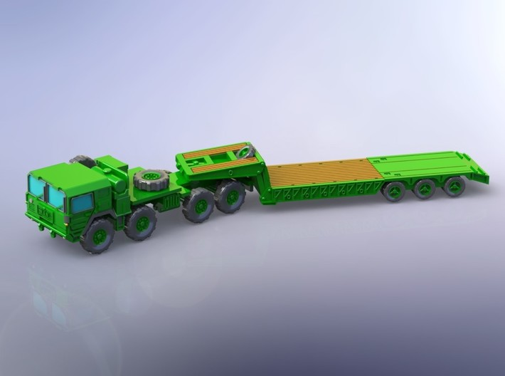 MAN M1014 with M870A1 Semitrailer 1/144 3d printed