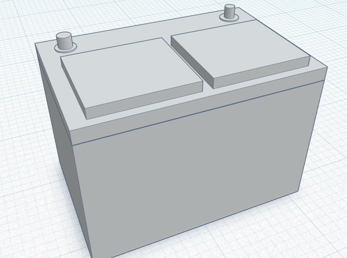 A Standard style battery in 1/10 scale 3d printed