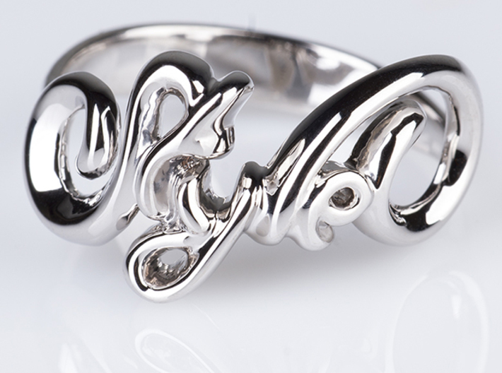 Style Ring. 3d printed Photo of Style Ring in Polished Silver