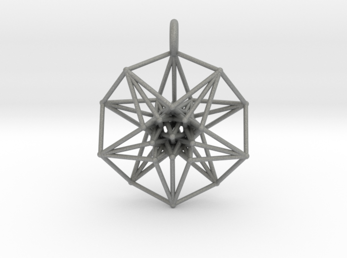 5d hypercube toroidal projection -37mm  3d printed