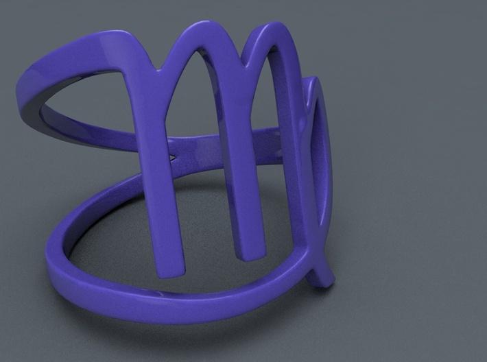 Virgo Zodiac Ring 3d printed