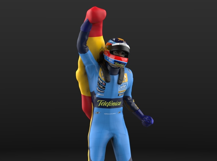 Fernando 1/12 Flag Figure 3d printed